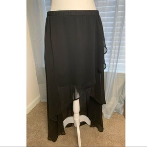 Black Asymmetrical Skirt (NWOT)